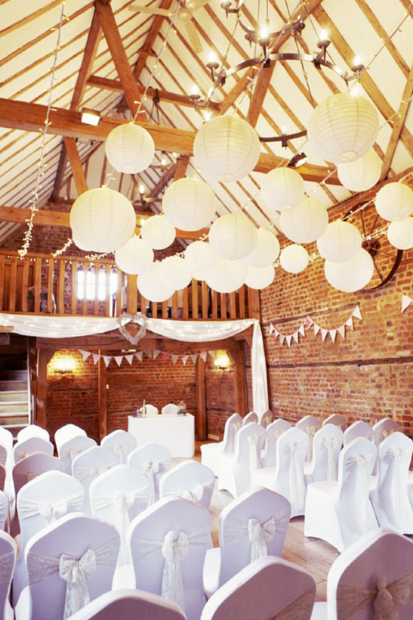 lanterns & fairy lights wedding