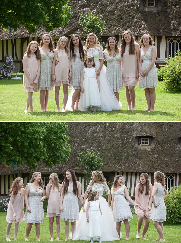 pink nude mismatched bridesmaid dresses asos