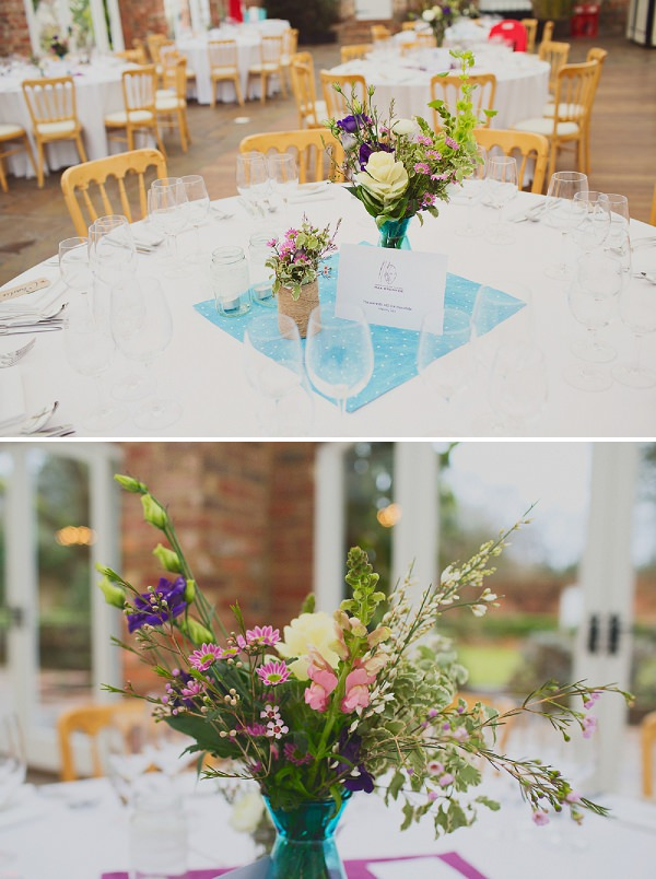 natural wedding flowers tables