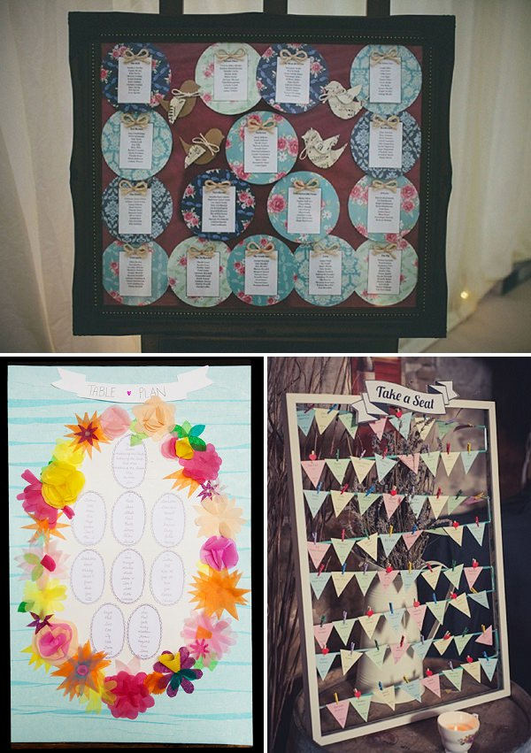 pretty table plan ideas floral