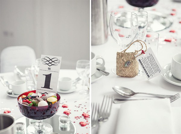modern white wedding decor