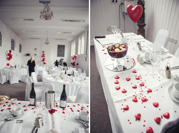 red hearts wedding