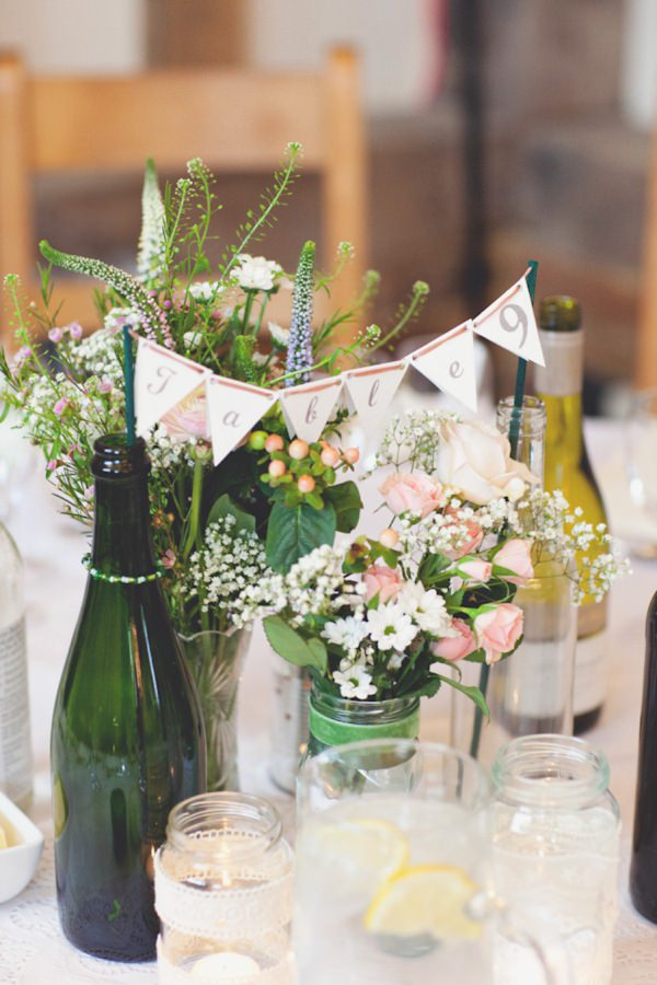 wild wedding flowers bunting
