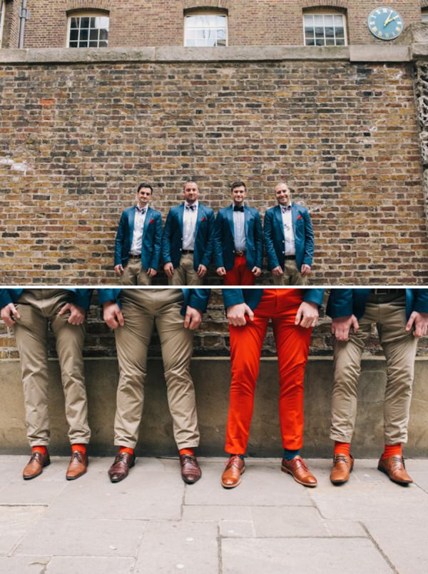 groom chinos bow ties http://www.weheartpictures.com/