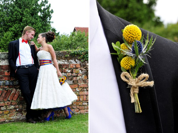 carnival wedding buttonhole ideas http://www.jorichardsphotography.com/