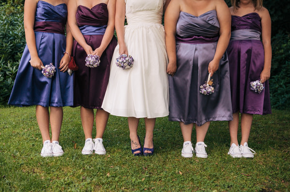 bridesmaids converse fun purple wedding http://www.cassandralane.co.uk/
