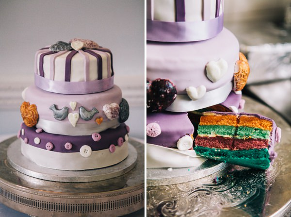 rainbow wedding cake  http://www.cassandralane.co.uk/