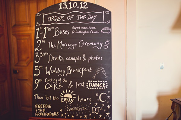 blackboard wedding sign http://www.annaclarkephotography.com/