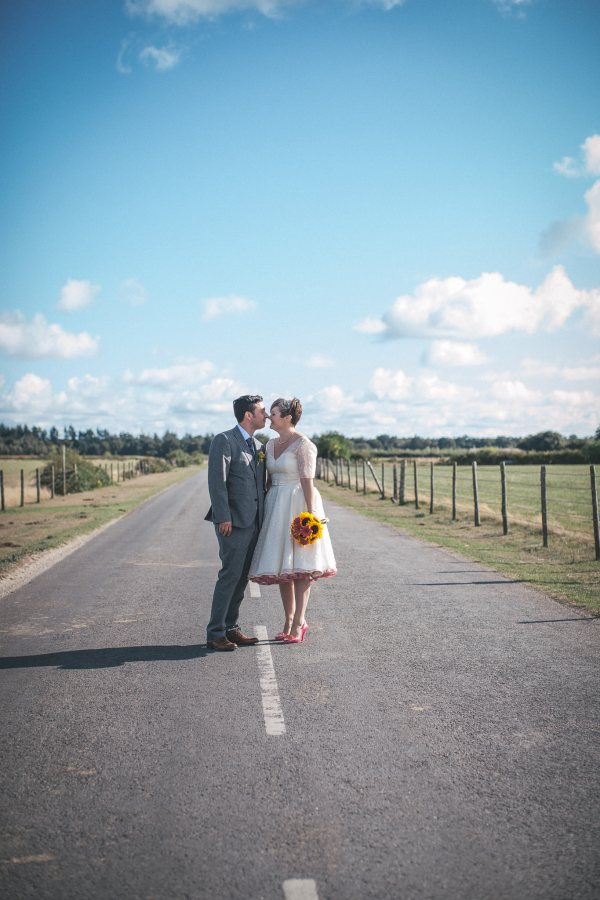 Polka Dot Dress Pink Petticoat Bride Pretty Party Pub Informal Wedding http://www.emmalucyphotography.com/