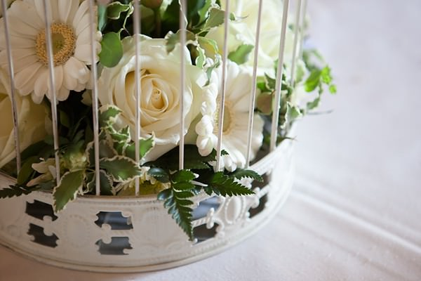birdcage centrepiece DIY Lillibrooke Manor Wedding http://fionasweddingphotography.co.uk/