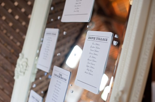 mirror seating plan DIY Lillibrooke Manor Wedding http://fionasweddingphotography.co.uk/