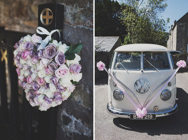 VW Camper Classic Elegant Pink Wedding http://www.annahardy.co.uk/
