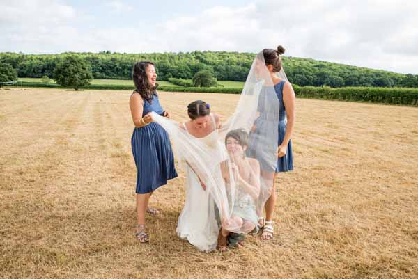 Blue Bridesmaid Dresses Country Fair Farm Outdoor Wedding http://martamayphotography.co.uk/