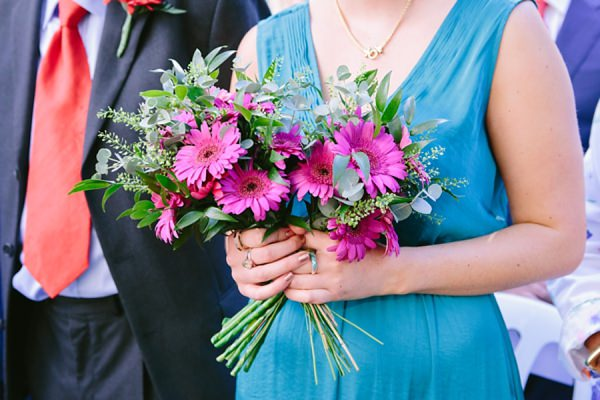Bridesmaid Bouquets Relaxed Back Garden Wedding http://bethmoseleyphotography.co.uk/