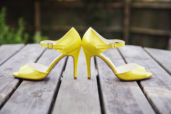 Yellow Wedding Shoes Bright Tea Party Yellow Wedding http://www.gemmawilliamsphotography.co.uk/