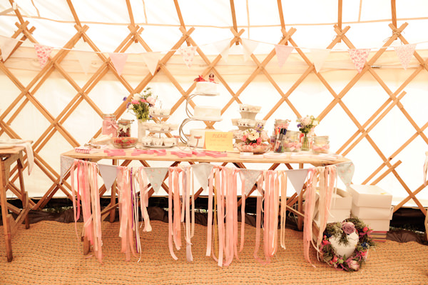 Cake Table Natural Bohemian Vegan Yurt Wedding http://www.ctimages.co.uk/