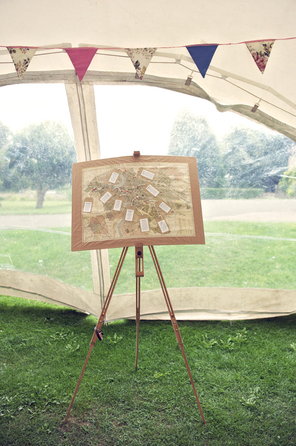 Map Table Plan Stylish Fun Humanist Wedding http://www.ruby-roux.com/