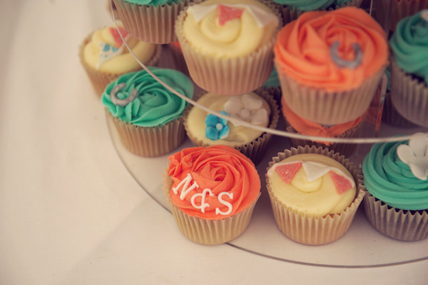 Cupcakes Stylish Fun Humanist Wedding http://www.ruby-roux.com/