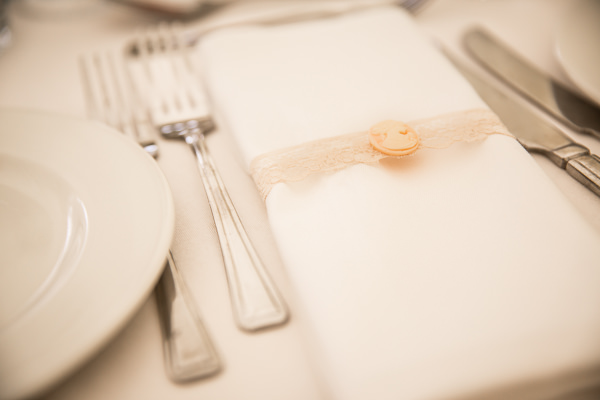Button Lace Napkins Pretty Marquee Wedding http://www.kategrayphotography.com/
