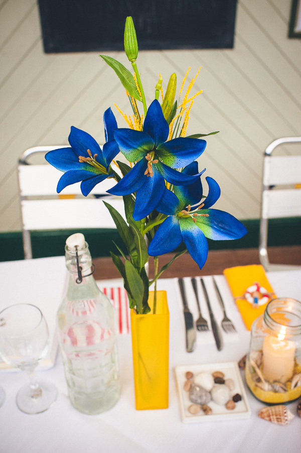 Flowers Nautical Colourful Pirate Wedding http://www.mariannechua.com/