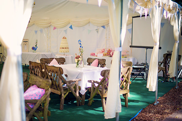 Pretty Pink Summer Marquee Fete Wedding http://www.photographybyvicki.co.uk/blog/