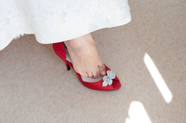 Chic & Relaxed Country Rustic Wedding Shoes Red http://www.sarareeve.com/