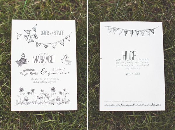 DIY Village Hall Wedding Stationery http://www.onloveandphotography.com/