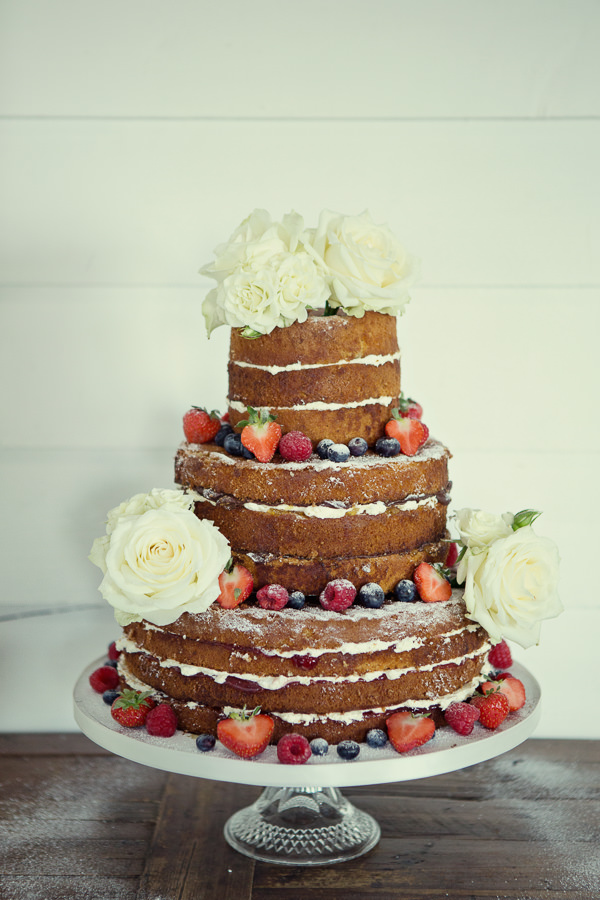 Magical Turquoise Beach Wedding Naked Cake http://www.mariannetaylorphotography.co.uk/