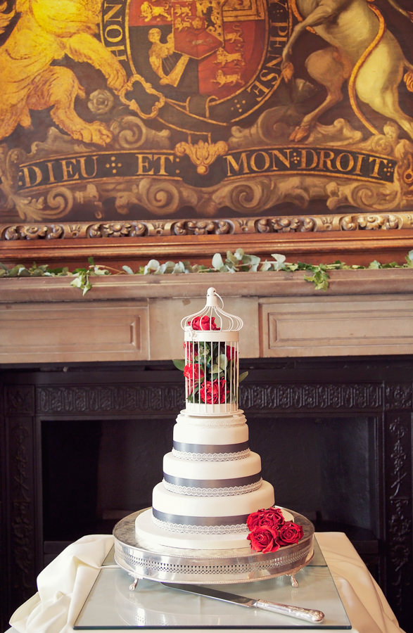 Chic City Film Wedding Birdcage Cake Red Grey http://marthaandgeorge.com/
