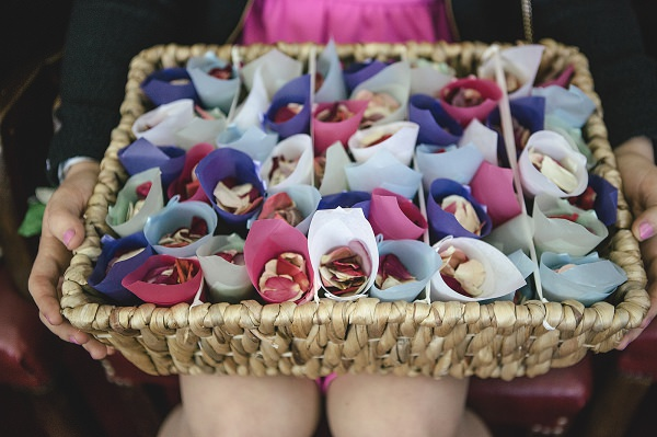 Multicoloured London Quirky Wedding Confetti Cones http://www.kat-hill.com/