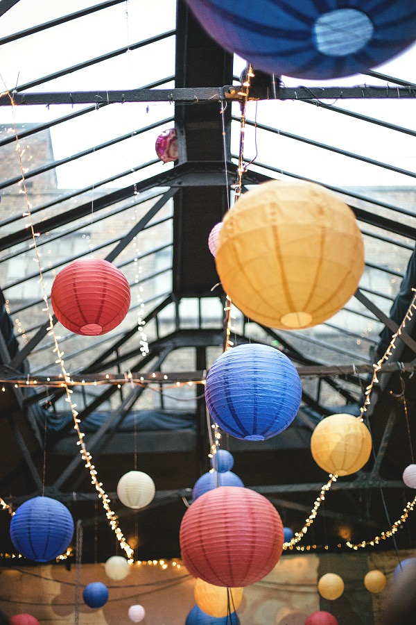 Multicoloured London Quirky Wedding Lanterns http://www.kat-hill.com/