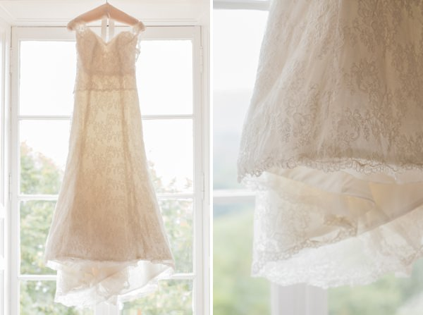 Destination Chateau Dordogne France Wedding Lace Dress http://www.mandjphotos.com/