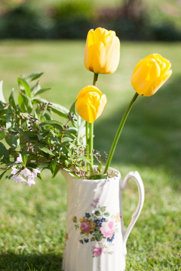 Spring Easter Wedding Flowers DIY Jug