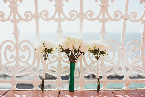 Brighton Sea Front Sequin Glitter Wedding Rose Bouquets http://www.redonblonde.com/
