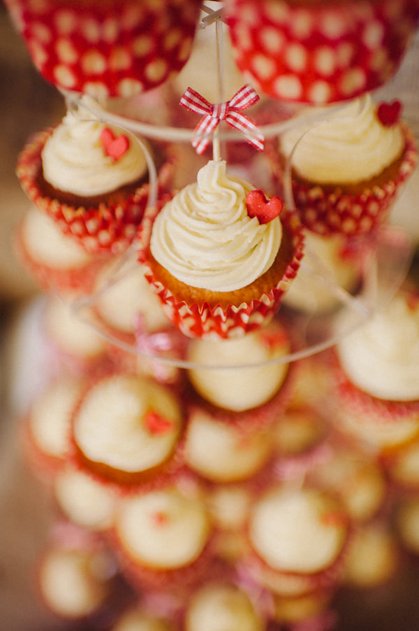 Red Polka Dot Budget Wedding Cupcakes http://stevenanthonyphotography.co.uk/