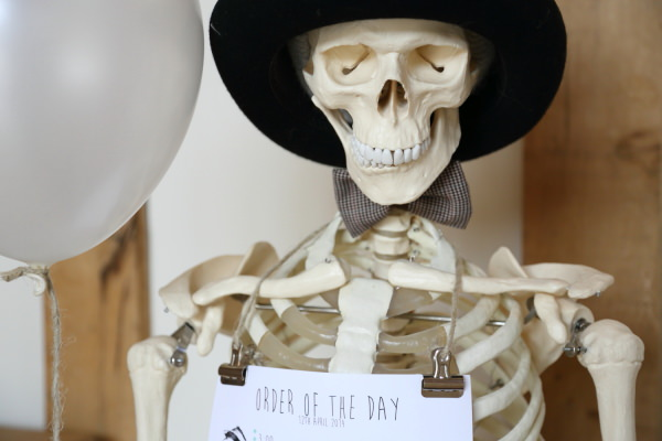 Woodland Animal Barn Wedding Skeleton Decor http://www.rebeccaprigmorephotography.com/