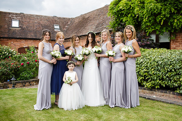 Whimsical Chic Country Wedding Silver Bridesmaids http://www.johastingsphotography.co.uk/