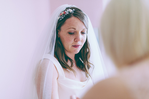 Eclectic Colourful Quirky Village Hall Wedding Veil Bride Accessory http://missgen.com/