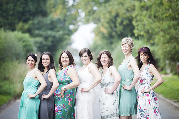 Lavender Farm Barn Wedding Green Bridesmaids http://www.jessicaholtphotography.com/