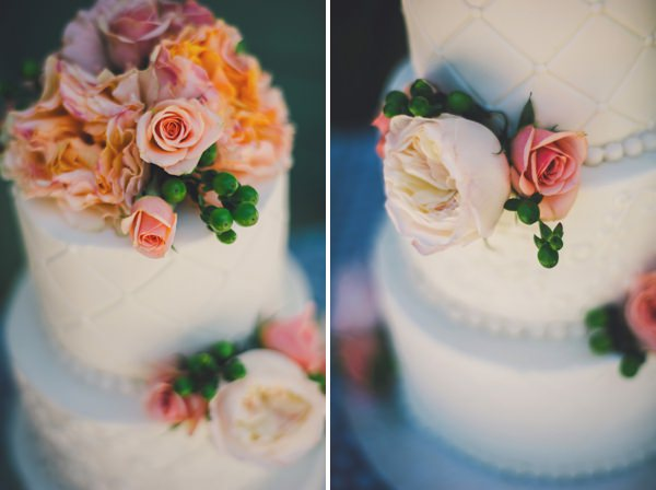 Pretty Peach Fresh North Carolina Wedding Floral Flower Cake http://www.connectionphotoblog.com/