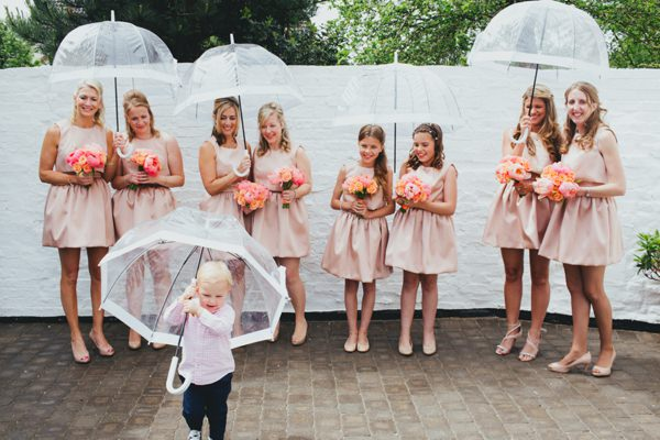 Coral Afternoon Tea Wedding Coral Bridesmaid Dresses http://www.daleweeksphotography.co.uk/