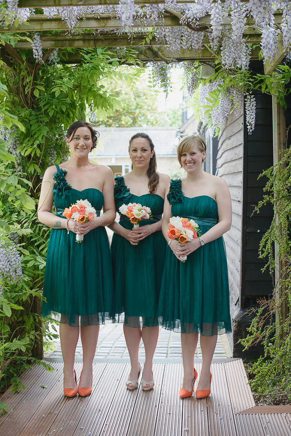 Coral & Green Rustic Wedding Bridesmaid Dresses http://www.riamishaal.com/