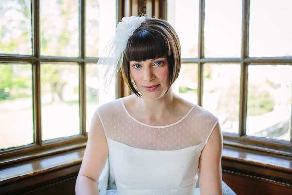 Bright Beautiful Spring Wedding Fringe Hair Bride Bangs Veil http://kategrayphotography.com/
