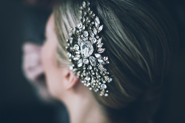 DIY White City Wedding Vintage Hairpiece Bride  http://www.amyfaithphotography.com/