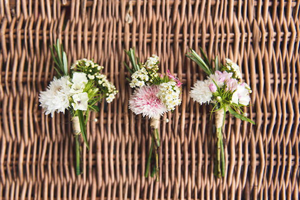 Country Folksy Pre-Raphaelite Wedding WIld Flower Buttonholes Seasonal http://www.georgimabee.com/