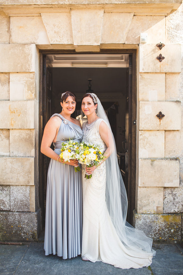 English Country Garden Downton Abbey Wedding Silver Bridesmaid Dress http://www.s6photography.co.uk/