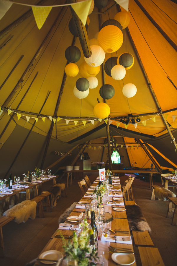 English Country Garden Downton Abbey Wedding Rustic Tipi Decor Yellow http://www.s6photography.co.uk/
