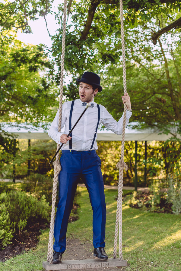 Marie Antoinette Pink Wedding Bowler Hat Braces Cane Bow Tie Groom http://www.annapumerphotography.com/