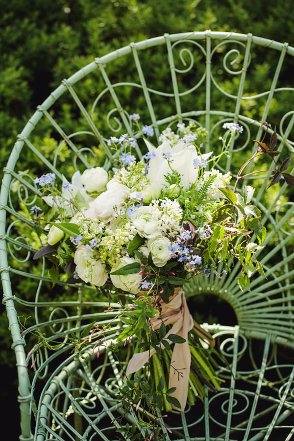 Dinner Party Midsummer Night's Dream Wedding Wild White Bouquet Bridal  http://www.gemmawilliamsphotography.co.uk/