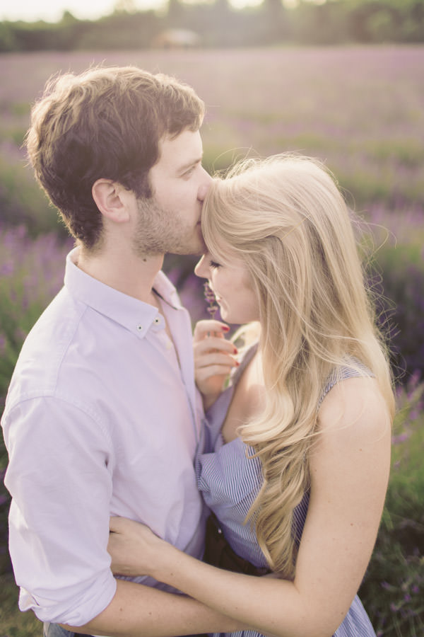 Dreamy Lavender Engagement Shoot http://www.murrayclarke.co.uk/